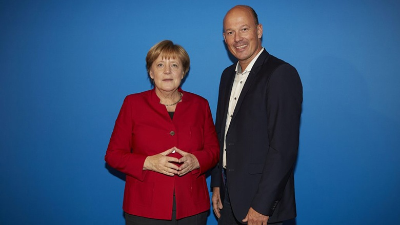 Angela Merke und Frank Rock auf dem Bundesparteitag in Essen (Foto: Chaperon)